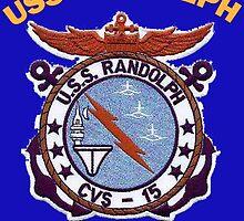 USS Randolph (CV/CVA/CVS-15) Crest for Dark Colors by Spacestuffplus