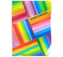 Colour Strength - Brush And Gouache Poster