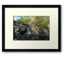The Pool's grotto on it's southern shoreline Framed Print