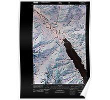 USGS Topo Map Washington State WA Stehekin 20110427 TM Inverted Poster
