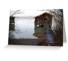 barn on the water 2 Greeting Card