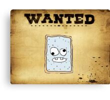 Jeffery Wanted Poster Canvas Print