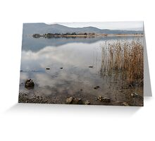 the water of the lake Greeting Card