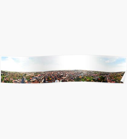 Louth Town 360 Degree Panorama Poster