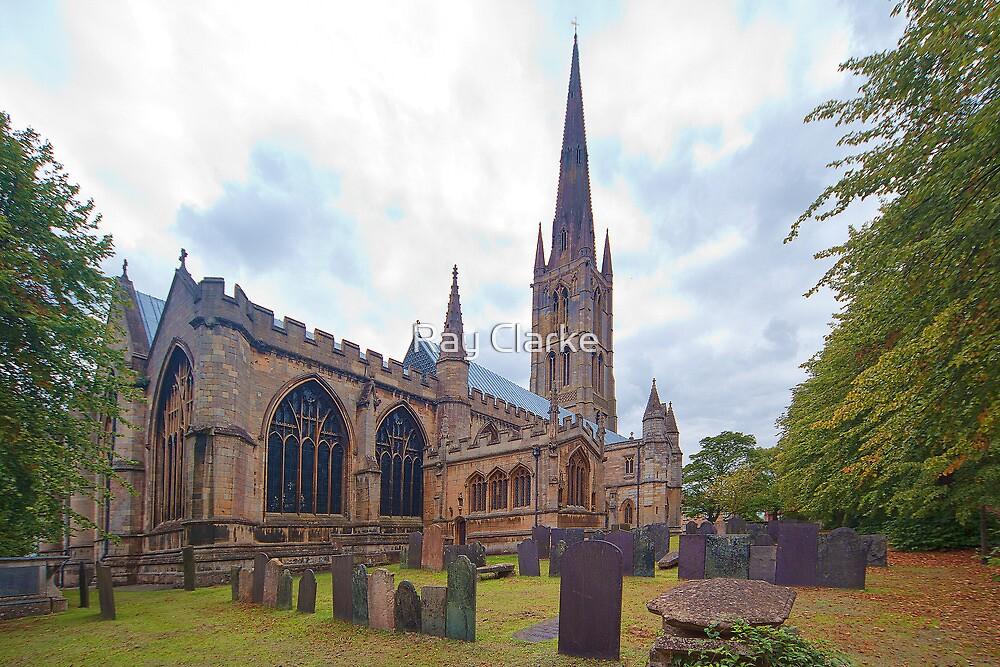 St. Wulframs Church (Back view) Grantham, Lincs. by Ray Clarke