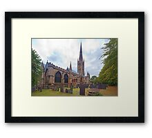 St. Wulframs Church (Back view) Grantham, Lincs. Framed Print