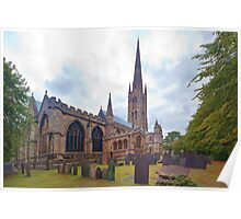 St. Wulframs Church (Back view) Grantham, Lincs. Poster