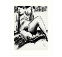 Charcoal Nude Art Print