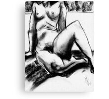 Charcoal Nude Canvas Print