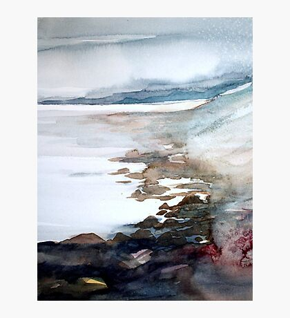 pebbles and rock pools Photographic Print
