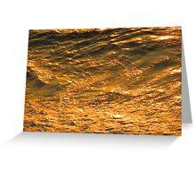 Ocean in the late sun - oceano en la luz del atardecer, Puerto Vallarta, Mexico Greeting Card