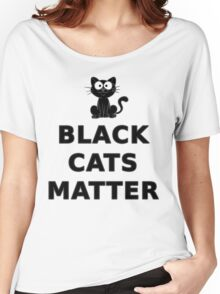 Black Cats Matter T Shirt Women's Relaxed Fit T-Shirt
