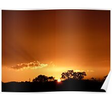 """""""September Sunset""""  Cossington Meadows, Leicestershire Poster"""