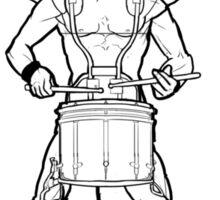 Vitruvian Snare Drummer Sticker