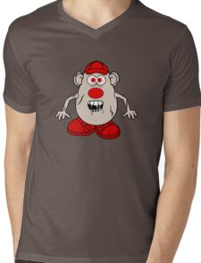 Zombie Potato Head Mens V-Neck T-Shirt