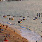 Boats at Olas Altas in the last rays of sun - Lanchas en las ultimas rayos del sol  by PtoVallartaMex