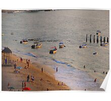 Boats at Olas Altas in the last rays of sun - Lanchas en las ultimas rayos del sol  Poster