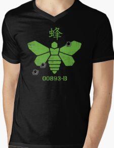 Heisenberg 'Golden Moth' Chemical Logo Shot with Bullet Holes Mens V-Neck T-Shirt
