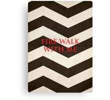 Twin Peaks: Fire Walk With Me Minimalist Poster Canvas Print