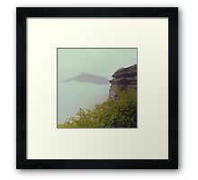A Temple above the clouds   Framed Print