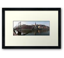 Passerelle St-Georges, and Vieux Lyon panorama Framed Print