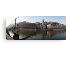 Passerelle St-Georges, and Vieux Lyon panorama Canvas Print