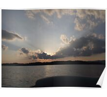 Lake Sunset Landscape  Poster
