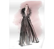 Elie Saab Fashion Ilustration  Poster
