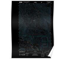 USGS Topo Map Washington State WA Cashmere 20110601 TM Inverted Poster