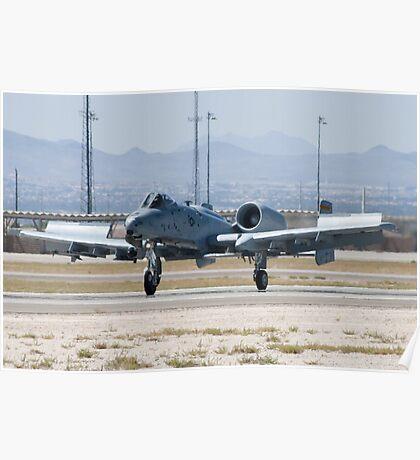 A-10A Thunderbolt II, WA AF 80-0184 Landing Poster