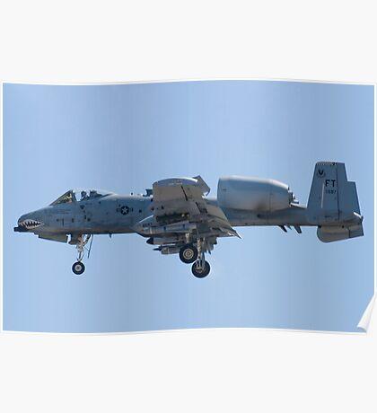 FT AF 78-0597 A-10 Thunderbolt II On Approach Poster