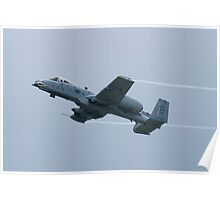 FT AF 81-0967 OA-10A Thunderbolt II Climbs Throwing Vapor Poster
