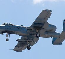 OT AF 79-0171 A-10 Thunderbolt II On Approach  by Henry Plumley