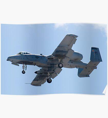OT AF 79-0171 A-10 Thunderbolt II On Approach  Poster