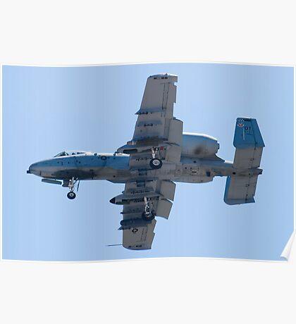 OT AF 80-0242 A-10 Thunderbolt II On Approach Poster