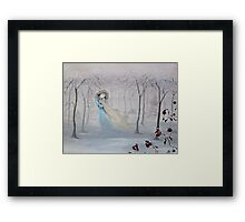 Softly, Gently Comes the Snow Framed Print