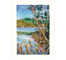 Landscape in the Northern Quebec Art Print