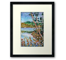 Landscape in the Northern Quebec Framed Print