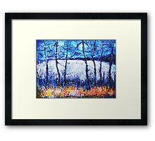 Moon over the Fields Framed Print