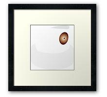 Gold Dot Framed Print