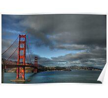 Golden Gate Bridge, HDR Poster