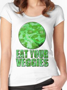 Eat your vegetables - alternate version Women's Fitted Scoop T-Shirt