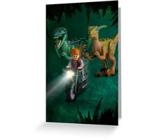 Lego Jurassic World Greeting Card
