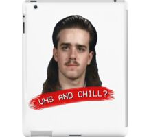 Vhs And Chill? iPad Case/Skin