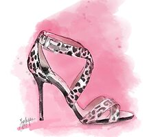 Jimmy Choo Healed Sandal Artwork by Faye Jepson