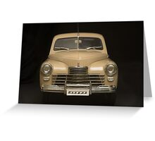 retro car front view  Greeting Card