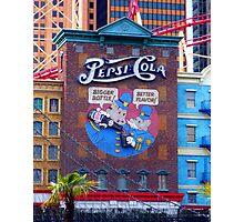 Pepsi Cola Advert in Vegas Photographic Print