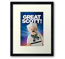 Lego Doc Brown Back To The Future Framed Print