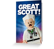 Lego Doc Brown Back To The Future Greeting Card