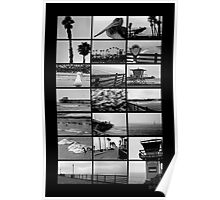 Oceanside Beach Collage Poster